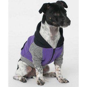 AMERICAN APPAREL Dog Pet Hoodie Zip Up Sweater S